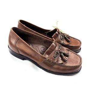 Earth Shoe Cheer Brown Genuine Leather Brown Sz 9
